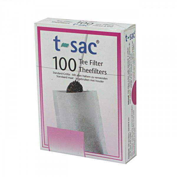 Teefilter t-sac 100 mit Bodenfalte, Teefilter Natur