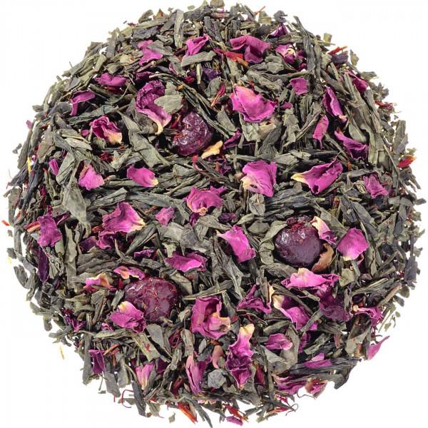 Grüner Cranberry Zauber - aromatisierter Grüntee