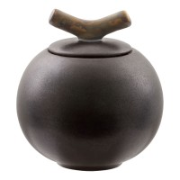 "Teedose ""Orb"" Keramik Schiefergrau NCA66528"