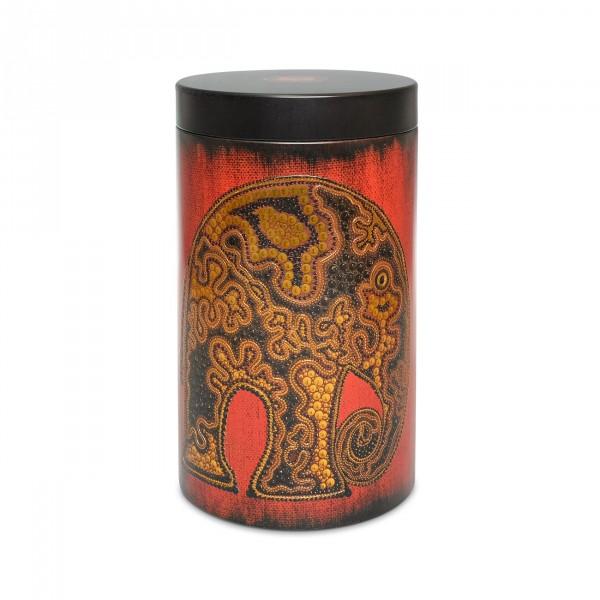 Dose Africa Elefant rund (für ca. 500 g Tee)