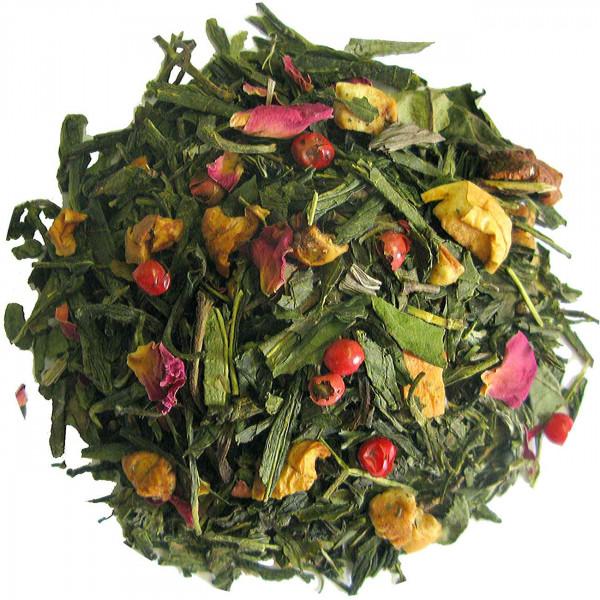 Kirsch-Marzipan - aromatisierter Grüntee