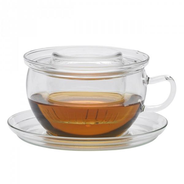 Jenaer Glas Tasse Tea Time mit Deckel und Filter