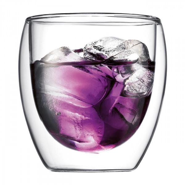 BODUM Glas Pavina doppelwandig 0,25 L 2er Set
