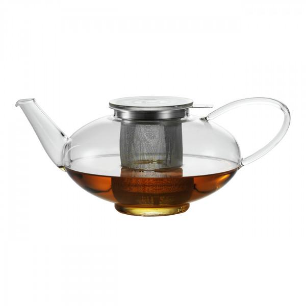 Teekanne mit Deckel und Sieb Oval